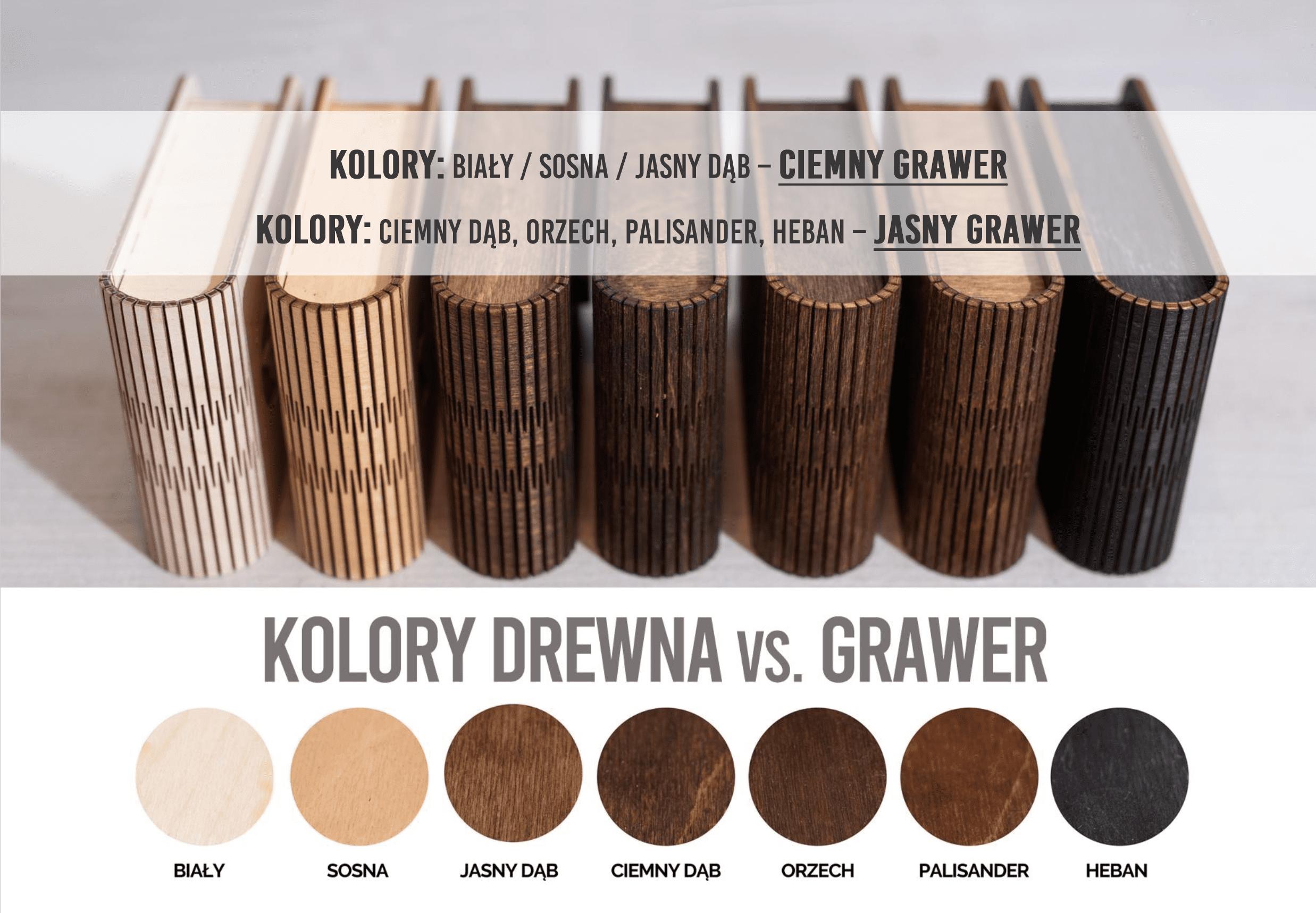 Jaki kolor drewna wybrać ? Grawer jasny czy ciemny  ?