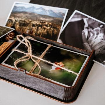 Pudełko książka na zdjęcia 13x18 i pendrive